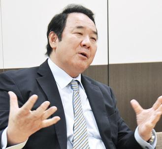 唐橋和男社長/34歳の時「自分が本当に住みたい家」の施工・販売をめざし同社を創業。不動産・建築事業のほか様々な事業展開を行う。全日本不動産協会相模原支部では支部長を務める。