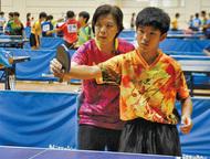 卓球元全日本王者が指導