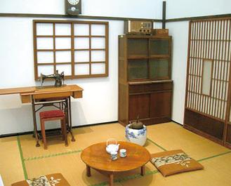 昭和30年代の居間を再現