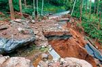 県内の大雨による土砂崩れ