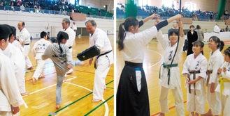 弓道や空手など普段習っている武道とは異なる種目を体験する子どもたち=市武道団体連絡協議会提供