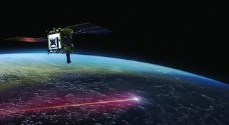 地球に帰還するカプセルと飛び去る「はやぶさ2」の想像図(@JAXA)