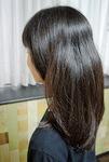 目標の長さまであと約10cmほどの髪