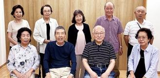 みたけ福寿会のメンバー。前列右から2番目が清田会長=10日