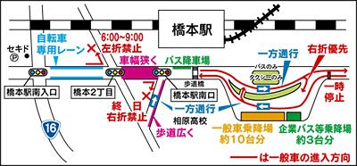 橋本駅南口で交通実験