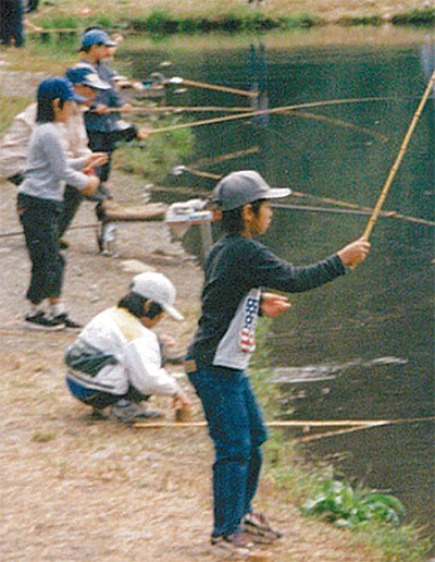 相模川で魚釣り教室