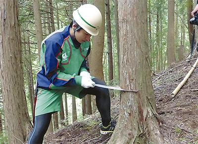 森林保全で県から感謝状