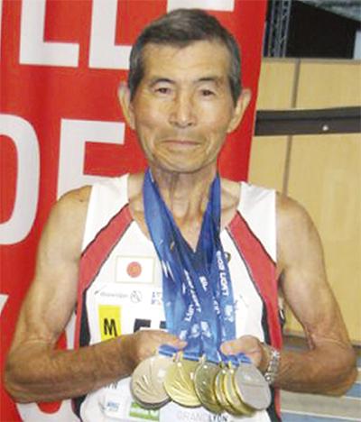 石川さん7種目でメダル
