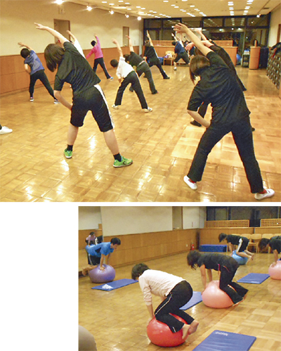「お手軽教室」で気軽に運動
