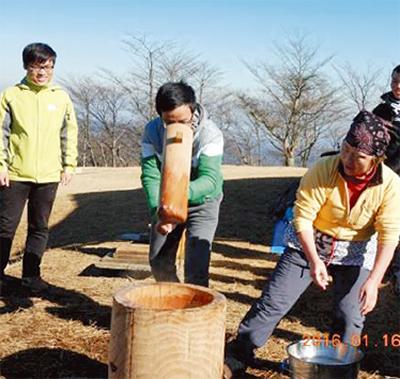 新春ハイキングと餅つき