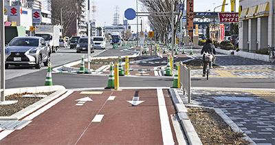 16号の自転車道 全線開通