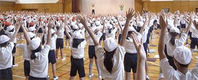 ラジオ体操で体力づくり