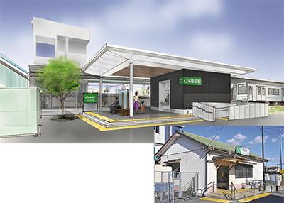 番田駅 木造駅舎を改築