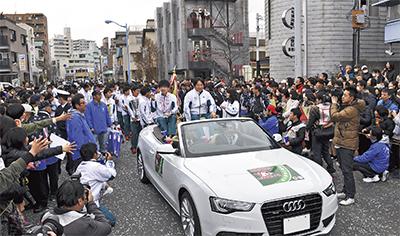 4連覇の青学 淵野辺凱旋