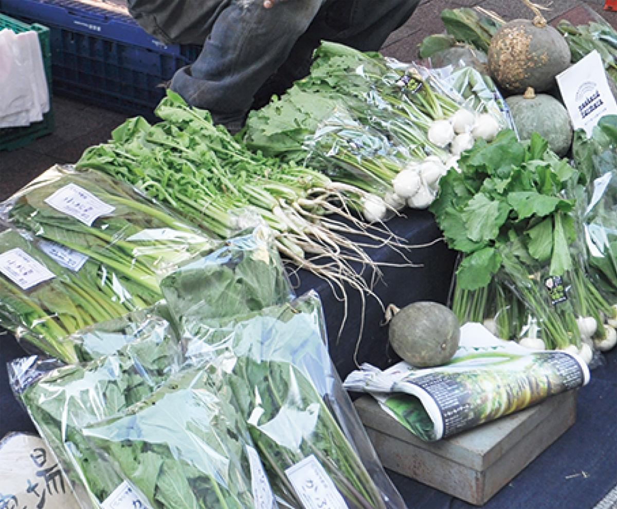 地場野菜を産直販売