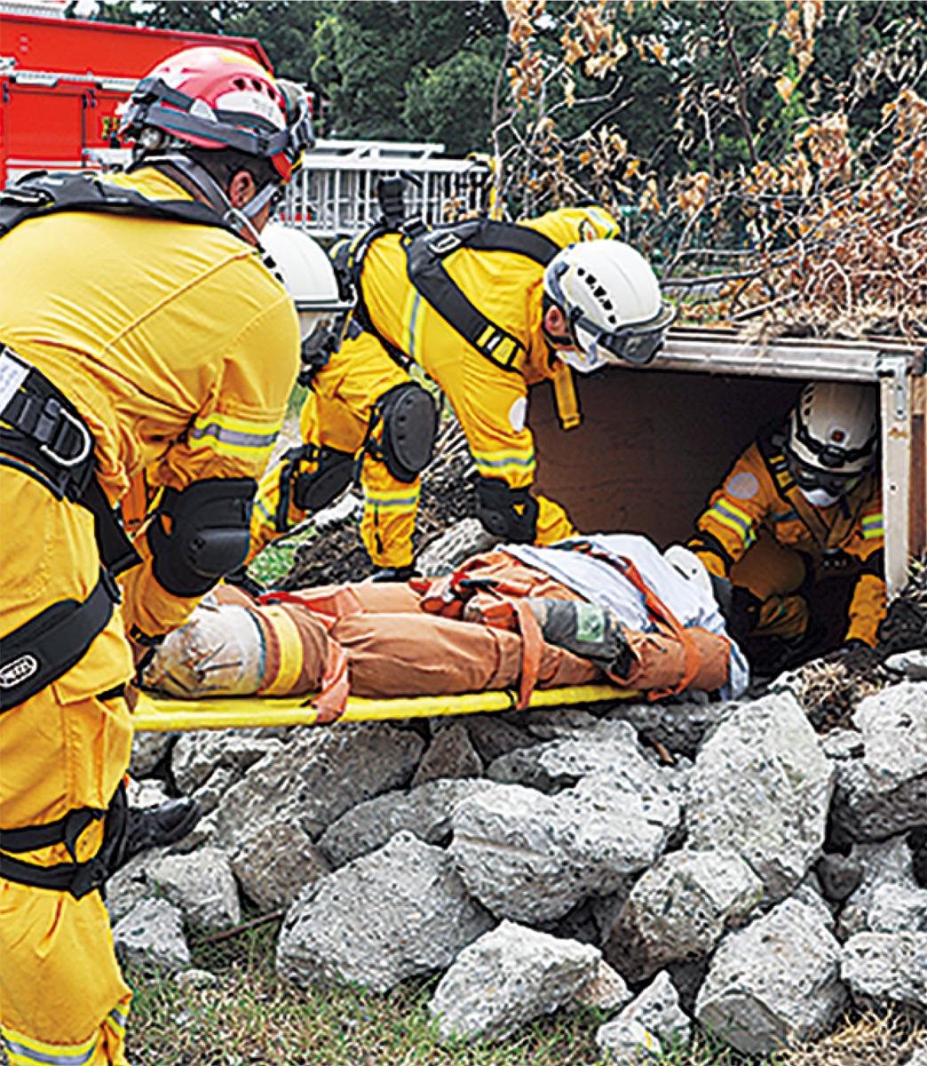 補給廠返還地で防災訓練