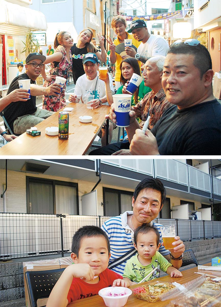 駅前「ビール祭り」盛況