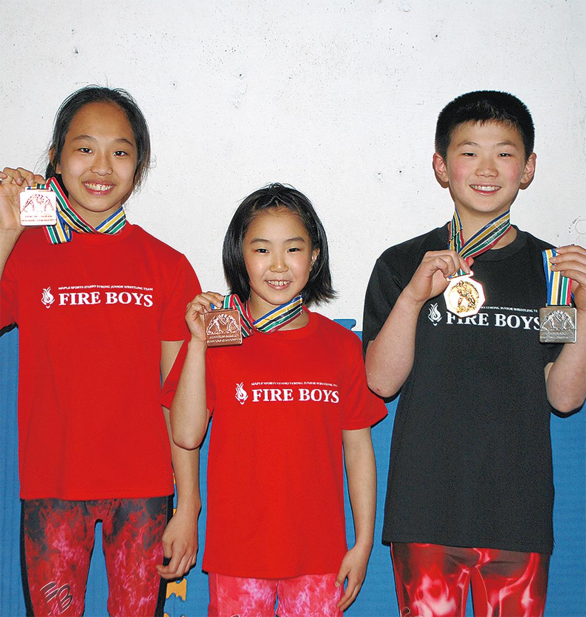 3選手がメダル獲得
