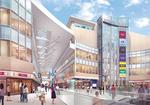 この事業は同社のほか、相模原市、相模大野駅西側地区市街地再開発組合によって推進されている。開業は平成25年3月の予定。写真はイメージパース