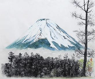 2013年の一大ニュースと言えば何と言っても「富士山の世界遺産登録」。美術館ではこの作品も観ることができる