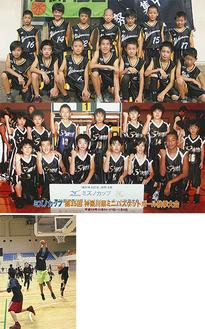 若松クラブ(上写真、北相選手権)とWEED(中写真、昨秋)の選手たち。下写真は17日の練習の様子