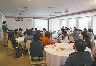 12日の会合では講演会、相談会、介護予防について企画された
