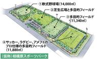 都市型運動公園に整備