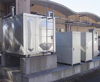 同社に設置されている水熱利用システム