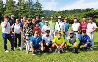 ゴルフに参加したメンバー