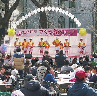 1万2千人が来場した昨年のおださがさくら祭り