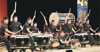 ▲第9回日本一決定戦で優勝した日本航空高等学校(山梨県)の太鼓隊