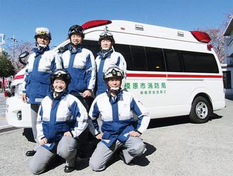 実際に出動する日勤救急隊員ら=市消防局提供