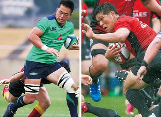 加入以来、チームをけん引する三菱重工キャプテンの土佐誠選手(左)と、当日ゲームキャプテンを務めるキヤノンの三友良平選手=両チーム提供
