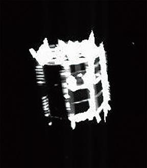分離運用後撮影されたローバ2(JAXA、千葉工大、東京大、高知大、立教大、名古屋大、明治大、会津大、産総研)