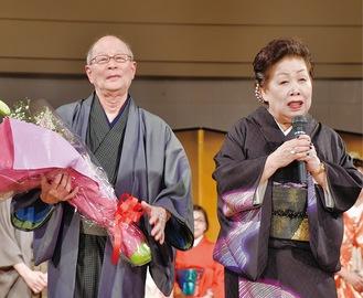 藤井会長(右)と中村社長