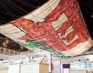 展示大凧 初の修復