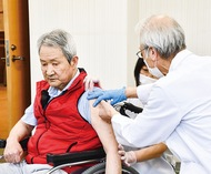 高齢者施設へ接種開始