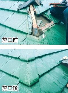 まもなく訪れる梅雨シーズン前に屋根の修理も万全に(施工例)