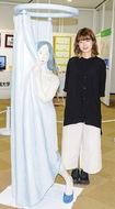 「木彫の女性像」展示