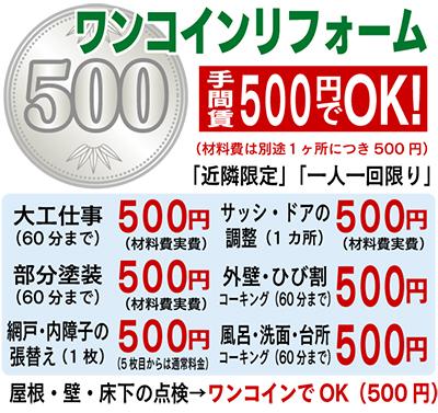 手間賃500円でいいよ!