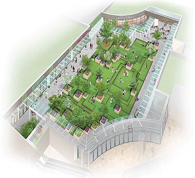 市民参加で庭園づくり