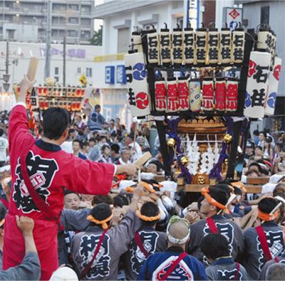 神輿13基 県北最大の夏祭り