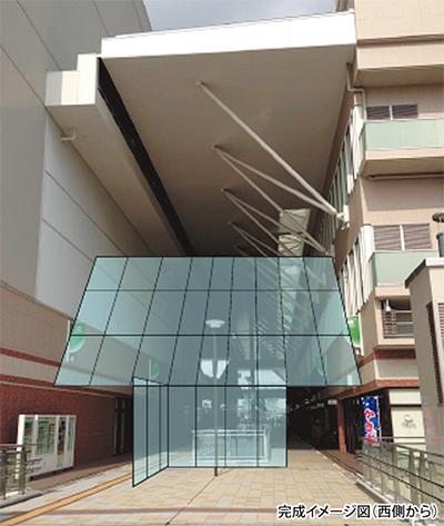 ガラス壁で風対策