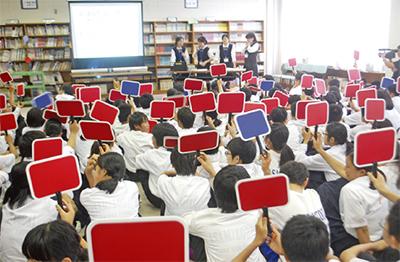 麻溝台中で防犯教室