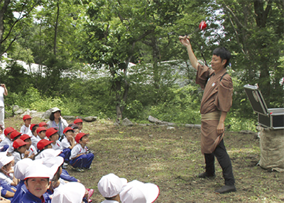 大槌学園児童と交流