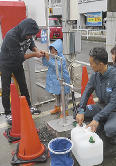 災害対策で井戸掘削