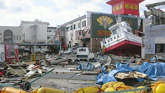 物資を届けた日の被災地