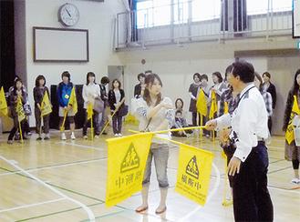 橋本小では保護者で交通安全教室を実施