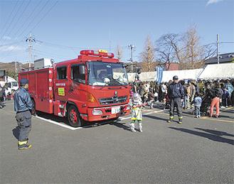 リングでは消防体験も出来る