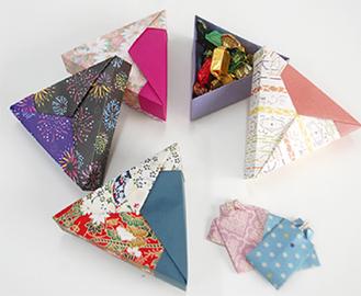折り紙で作れる小物入れ